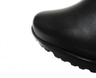 Дамски ботуши естествена кожа черни LDGI-20623