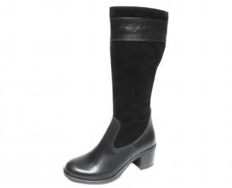 Дамски ботуши естествена кожа черни XHQM-20727
