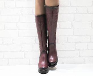 Дамски ботуши естествена кожа червени CCXJ-25214