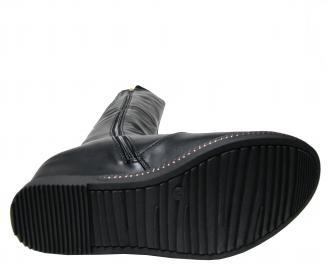 Дамски ботуши на платформа черни еко кожа CWXD-22352
