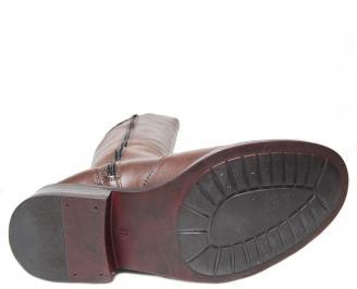 Дамски ботуши от естествена кожа кафяви XQGB-22667