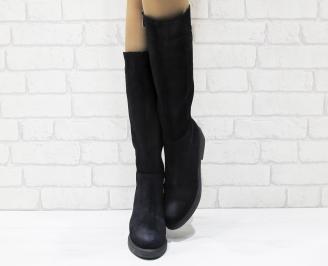 Дамски ботуши от естествен велур FXDZ-25540
