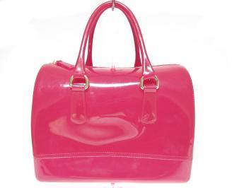 Дамски чанти еко лак розова WWWB-13232