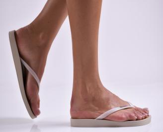 Дамски чехли бежови SHQM-27304