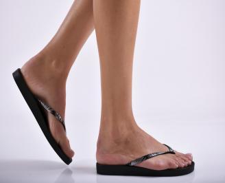 Дамски чехли  черни OHPN-27293