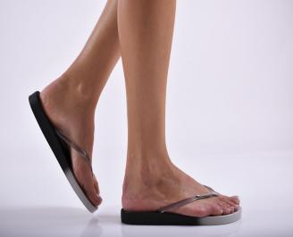 Дамски чехли  черни RMZV-27295