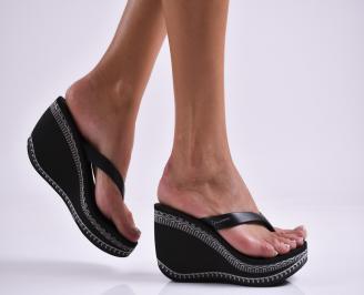 Дамски  чехли на платформа Ipanema черни NCXF-27312
