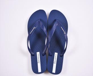 Дамски чехли сини OMJC-27370