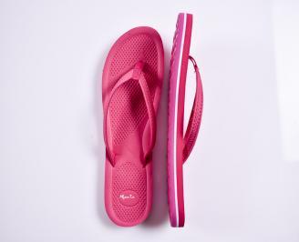 Дамски чехли текстил  розови DWDK-27865