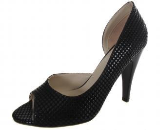 Дамски елеганти обувки черни еко кожа QTDI-19128