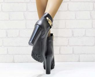 Дамски елегантни боти черни еко кожа MXMR-21930