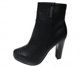 Дамски елегантни боти черни от еко кожа JOXZ-22349