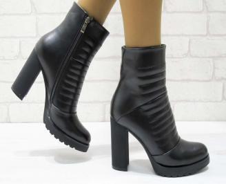 Дамски елегантни боти черни от еко кожа HPTN-22357