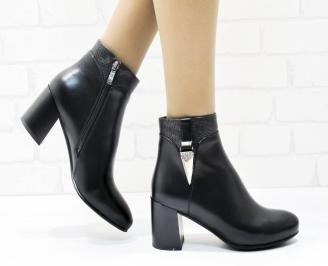 Дамски елегантни боти  черни  от еко кожа CUTU-25431