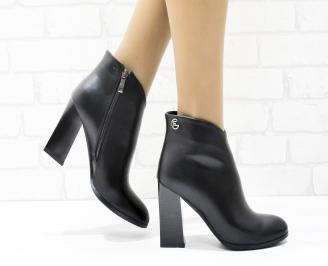 Дамски елегантни боти  черни  от еко кожа ZOMH-25434
