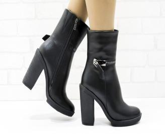 Дамски елегантни боти  черни  от еко кожа SJKY-25435