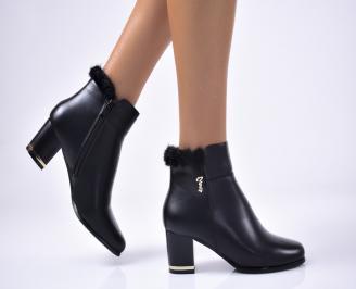 Дамски елегантни  боти  еко кожа черни UPRI-1012970
