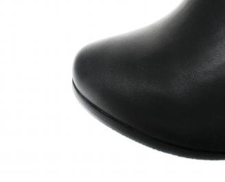 Дамски елегантни боти еко кожа черни ZBPN-20218