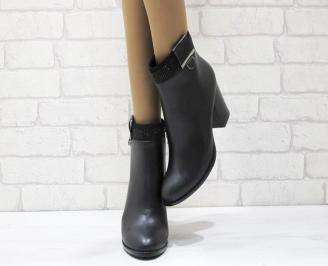 Дамски елегантни  боти еко кожа черни OMSX-24891