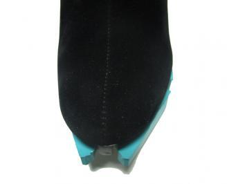 Дамски елегантни боти еко велур черни AYQA-14961