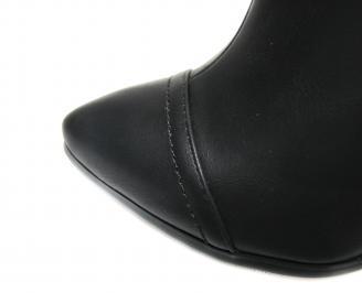 Дамски елегантни боти еко кожа черни EJBU-17727
