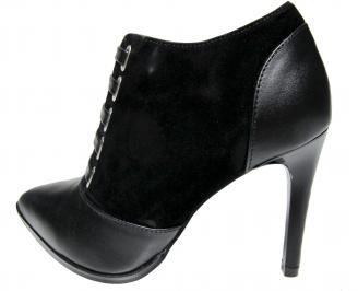 Дамски елегантни боти естествена кожа черни YXXE-22406