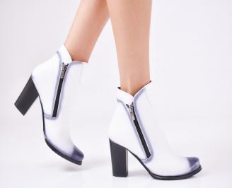 Дамски елегантни  боти  от еко кожа бели XFSO-1010880