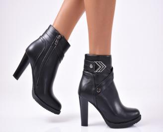 Дамски елегантни  боти  от еко кожа черни TNQZ-1012851