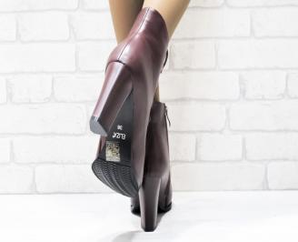 Дамски елегантни боти от еко кожа бордо LRCT-25439