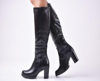 Дамски елегантни ботуши  еко кожа черни XTNI-1010098