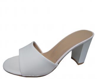 Дамски елегантни чехли еко кожа/лак бели TMJO-21774