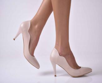 Дамски елегантни обувки еко кожа  бежови KYIC-1010919