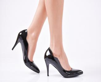 Дамски елегантни обувки еко кожа/лак черни SNFP-1010921