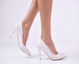 Дамски  елегантни обувки еко кожа/лак пудра MJER-1011196