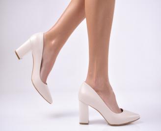 Дамски елегантни обувки еко кожа  бежови NGPZ-1011202