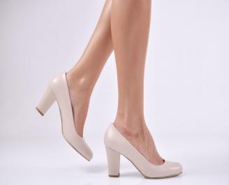 Дамски елегантни обувки еко кожа  бежови FZRW-1011211