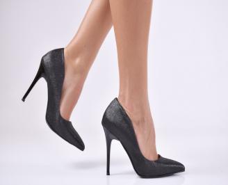 Дамски  елегантни обувки текстил черни VMHR-1011216