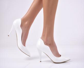 Дамски елегантни обувки еко лак бели HTVF-1011279