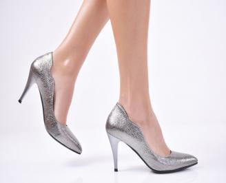 Дамски елегантни обувки  еко кожа сиви UPVQ-1011291