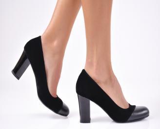 Дамски елегантни обувки набук черни UAUY-1012689