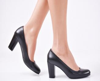 Дамски елегантни обувки гигант еко кожа черни ESGD-1013552