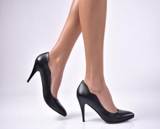 Дамски елегантни обувки еко кожа черни BMBE-1013602