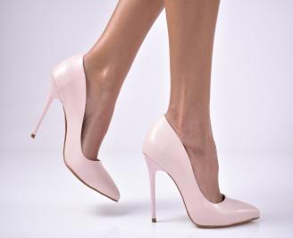 Дамски елегантни обувки еко кожа пудра OYSE-1013603
