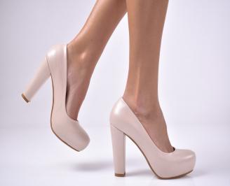 Дамски елегантни обувки   бежови UELU-1013604