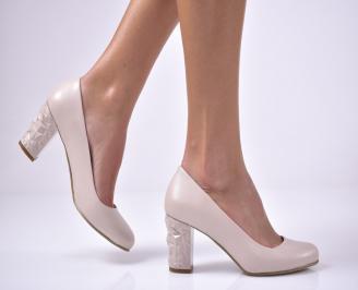 Дамски елегантни обувки еко кожа бежови. KBSB-1013608