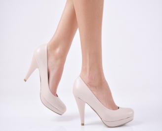 Дамски елегантни обувки гигант бежов FEYY-1013642
