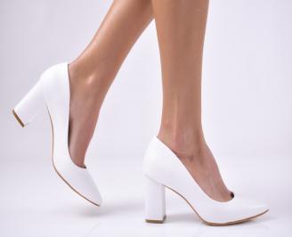 Дамски елегантни обувки еко кожа бели. DZYM-1013725