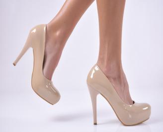 Дамски елегантни обувки   бежови KDMH-1013727