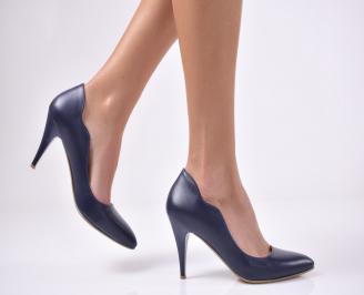 Дамски елегантни обувки еко кожа сини JUAY-1013746