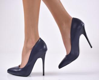 Дамски елегантни обувки еко кожа сини ZYVS-1013754